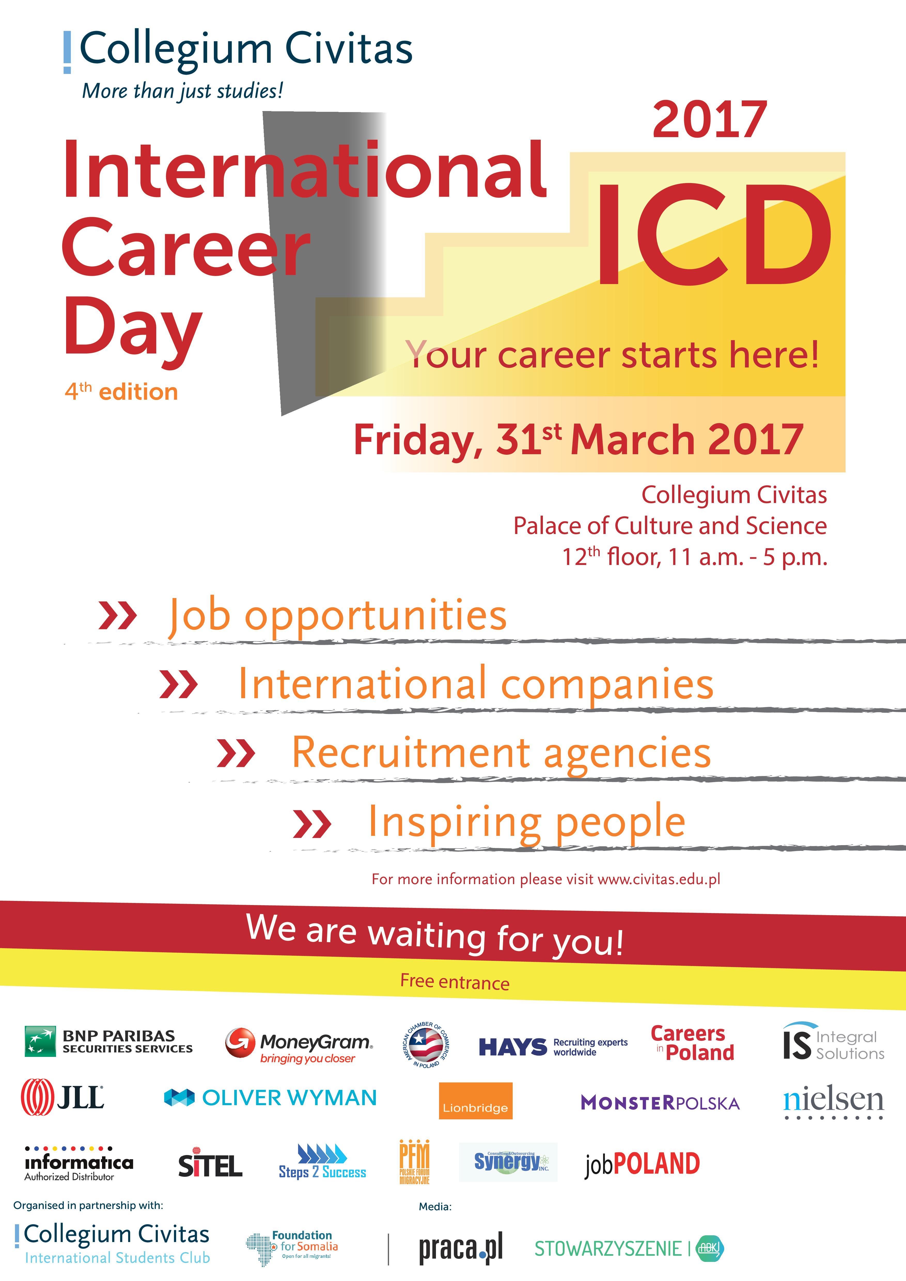 Odbyły Się International Career Days 2017 (31.03.2017 godz.11:00)