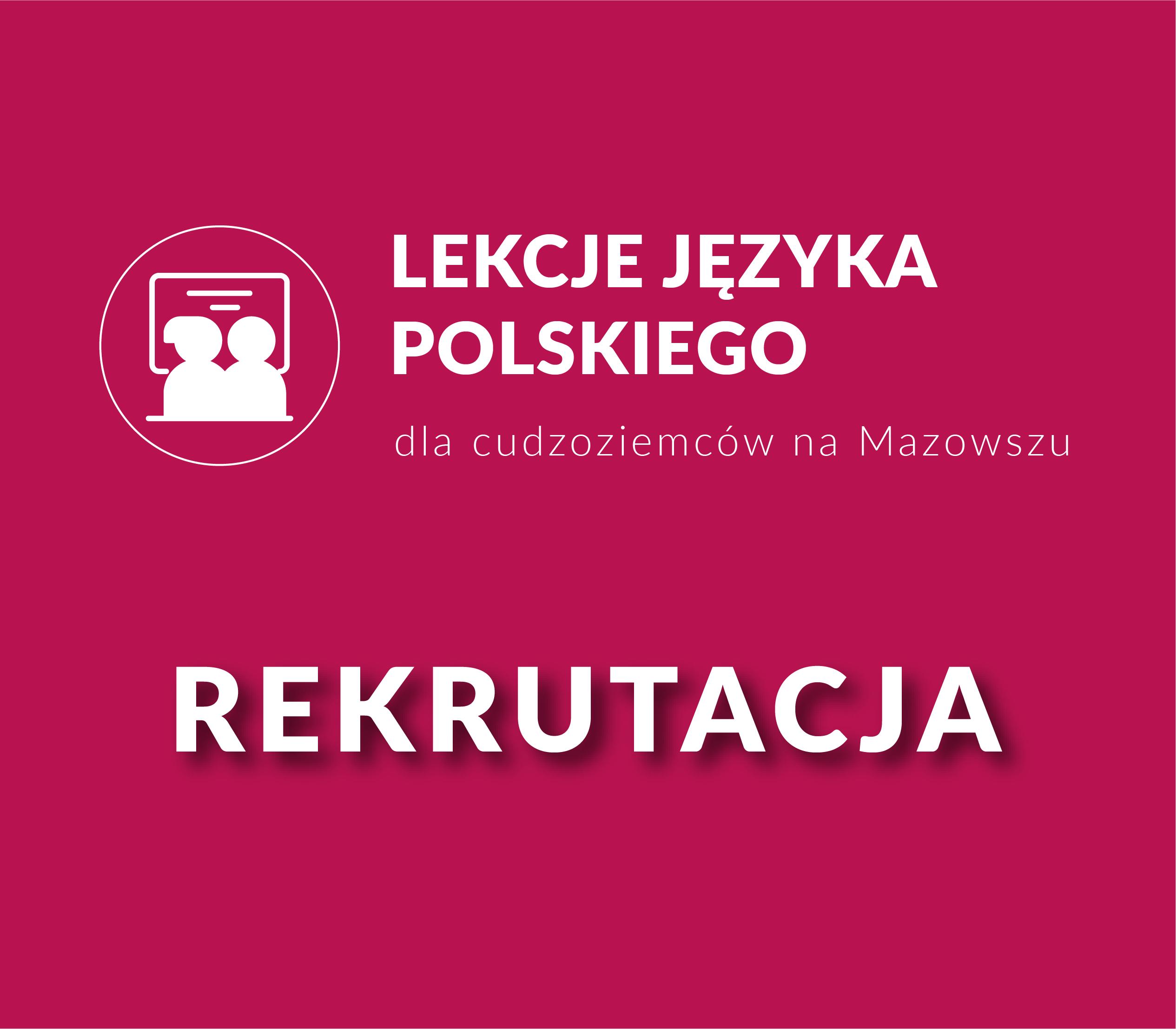Kolejna rekrutacja na kursy języka polskiego!
