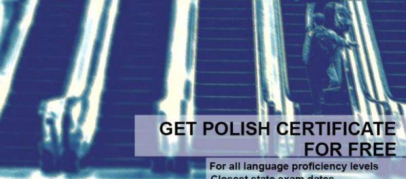 Zdaj certyfikat językowy za darmo!