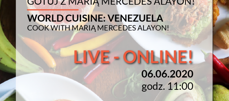 WORLD CUISINE ONLINE: COOK WITH MARIA MERCEDES ALAYON!