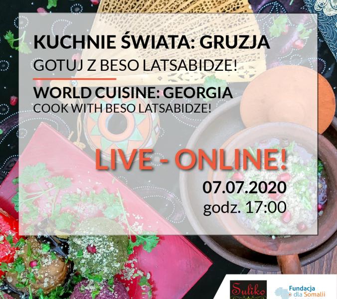Онлайн кулинария мира: готовьте вместе с Бесо Латсабидзе
