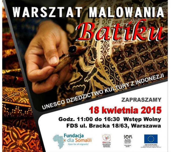 18 kwietnia: warsztaty batiku z Yoną Aloewie