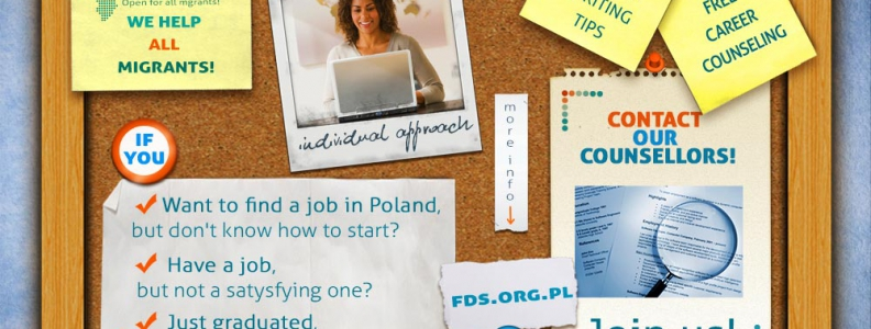 We guide immigrants through the process of finding a job in Warsaw