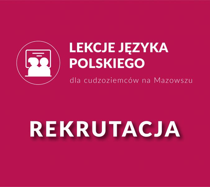Informacja o kursach języka polskiego