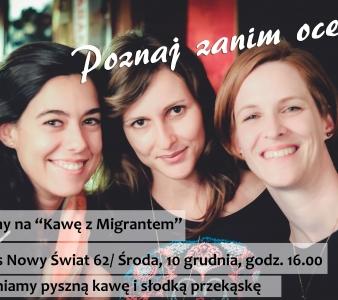 Kawa z migrantem – zapraszamy na spotkanie!